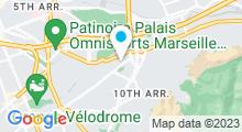 Plan Carte Piscine Pont de Vivaux à Marseille
