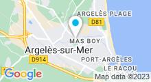 Plan Carte Piscine à Argeles sur Mer