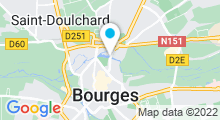 Plan Carte Centre nautique - Piscine à Bourges