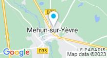 Plan Carte Piscine couverte à Mehun sur Yèvre