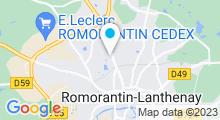 Plan Carte Piscine Alain Calmat à Romorantin Lanthenay