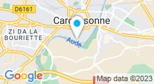 Plan Carte Piscine du Paicherou à Carcassonne