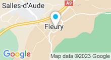Plan Carte Piscine la Condamine à Fleury d'Aude