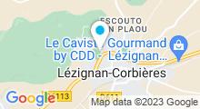 Plan Carte Piscine à Lezignan Corbières