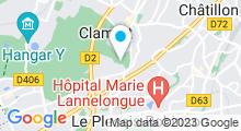 Plan Carte Piscine du Jardin Parisien à Clamart