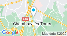 Plan Carte Piscine à Chambray les Tours