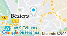 Plan Carte Stade nautique Leo Lagrange - Piscine à Beziers