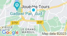 Plan Carte Piscine Jean Bouin à Joué les Tours