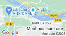 Plan Carte Piscine à Montlouis sur Loire