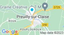 Plan Carte Piscine de Preuilly sur Claise