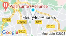 Plan Carte Piscine Jacobins à Fleury les Aubrais