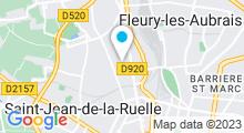 Plan Carte Bassin d'apprentissage Victor Fouillade à Orléans