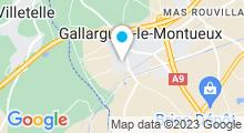 Plan Carte Piscine à Gallargues le Montueux