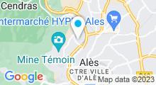 Plan Carte Piscine d'été de Cauvel à Alès