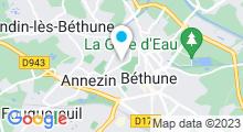 Plan Carte Centre aquatique - Piscine de Bethune