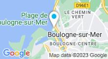 Plan Carte Piscine de Nausicaà à Boulogne sur Mer