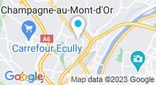 Plan Carte Piscine de la Duchère à Lyon