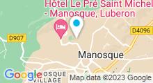 Plan Carte Piscine de La Rochette à Manosque