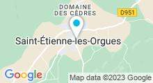Plan Carte Piscine à St Etienne les Orgues