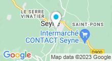 Plan Carte Piscine de la maison des jeunes à Seyne