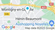 Plan Carte Piscine Léo Lagrange à Henin Beaumont