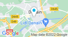 Plan Carte Centre nautique Gustave Ansart - Piscine de Denain