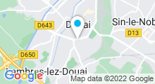 Plan Carte Piscine des Glacis de Douai