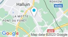 Plan Carte Piscine Philippe Croizon à Halluin