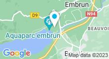 Plan Carte Piscine de Serre Ponçon à Embrun