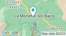 """Plan Carte Piscine """"Les grands Bains"""" à Le Monetier les Bains"""