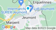 Plan Carte Piscine Pierre de Coubertin à Jeumont