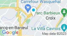 Plan Carte Piscine Calypso à Wasquehal