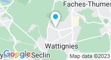 Plan Carte Piscine Zen & O à Wattignies