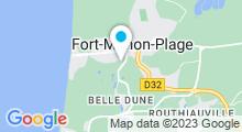 Plan Carte Piscine Aquaclub Belle Dune à Fort Mahon Plage