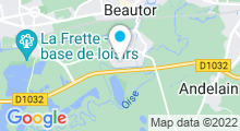 Plan Carte Piscine Lucien Lahaye à Beautor