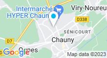 Plan Carte Piscine l'Oasis à Chauny