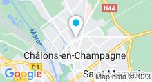 Plan Carte Piscine Olympique de Châlons-en-Champagne