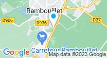 Plan Carte Piscine des Fontaines à Rambouillet