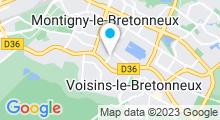 Plan Carte Centre aquatique du Lac - Piscine à Montigny-le-Bretonneux