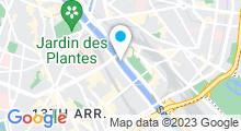 Plan Carte Piscine Joséphine Baker à Paris (13e)