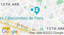 Plan Carte Piscine Aspirant Dunand à Paris (14e)