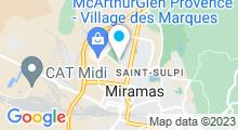 Plan Carte Piscine des Molières à Miramas