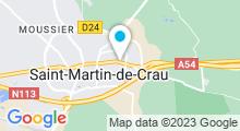 Plan Carte Piscine à Saint Martin de Crau