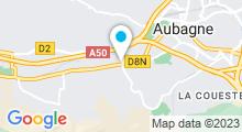 Plan Carte Piscine du Complexe Aquatique Alain Bernard - l'Oasis du Charrel à Aubagne
