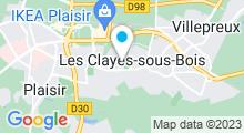 Plan Carte Piscine Salvator Allende des Clayes-sous-Bois