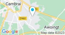 Plan Carte Piscine les Ondines à Cambrai
