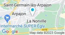 Plan Carte Bassin Nautique de l'Arpajonnais à La Norville