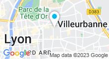 Plan Carte Centre fitness et remise en forme Body Sculpt à Villeurbanne