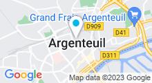 Plan Carte Salle de sport et piscine Gigafit à Argenteuil