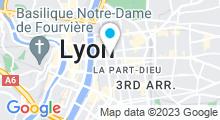 Plan Carte Salle de fitness Wellness Sport Club à Lyon